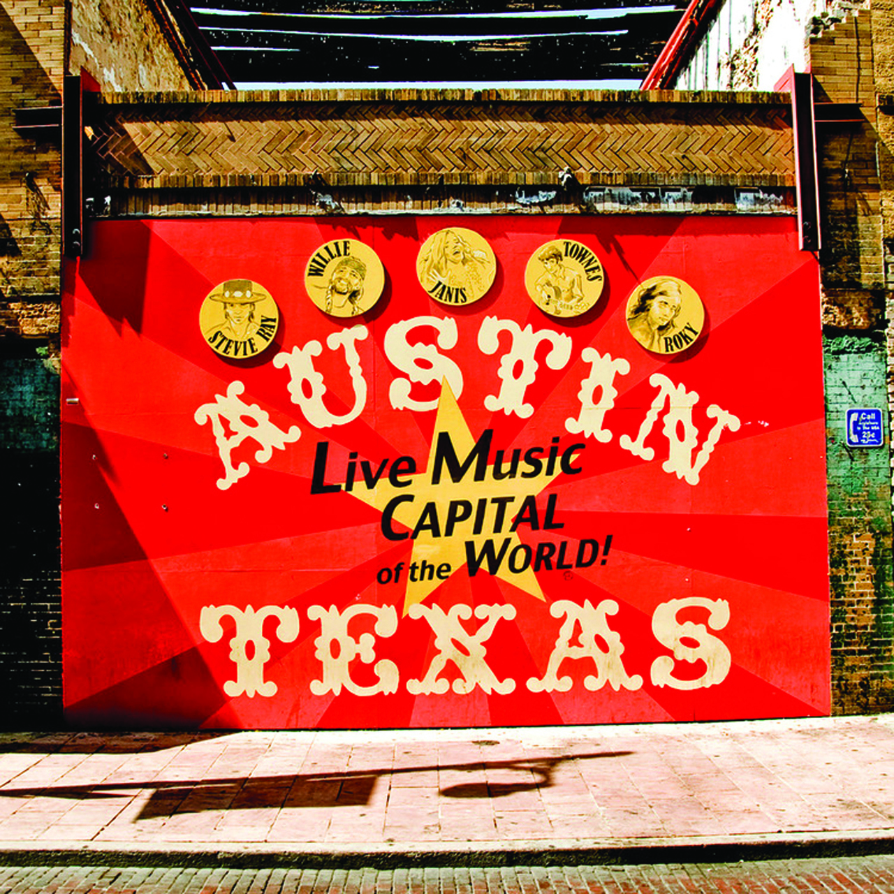 Live Music Capital of the World Austin, Texas Mural