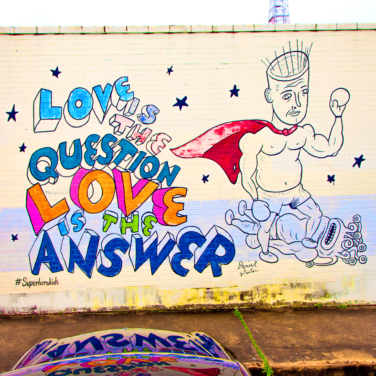 Love is the question love is the answer mural austin, texas